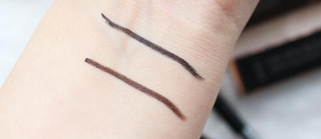 DHC Gel Pencil Eyeliners EX in Black & Brown swatches