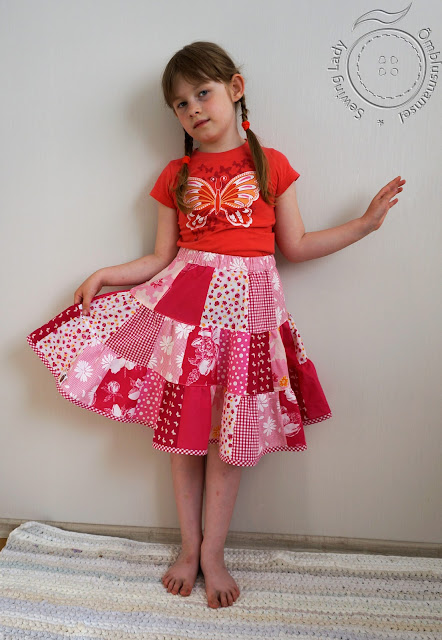 girls patchwork skirt, ruffle skirt,