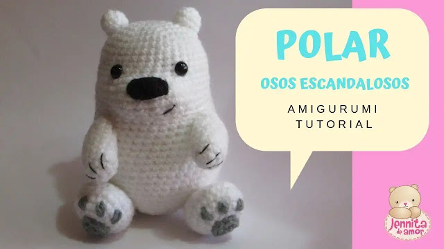 Tutorial Polar de Osos Escandalosos (We Bare Bears) a Crochet