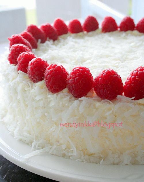 Coconut Raspberry Cake Gluten Free