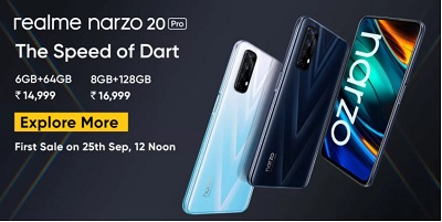 Narzo 20 Pro Released in India With 2 Variants RAM 6-8 GB