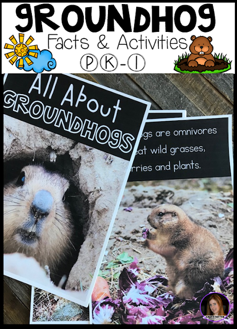 This unit includes real photos, sorting labels, All About Groundhog's large group book, comprehension pages and voting and graphing materials.
