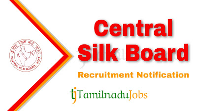 CSB Recruitment notification 2020, central govt jobs, govt jobs for graduate, govt jobs for engineers, govt jobs for master degree,