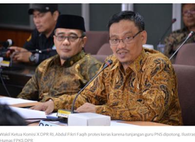 Tunjangan Guru PNS Dipotong, Anggota DPR Protes Keras