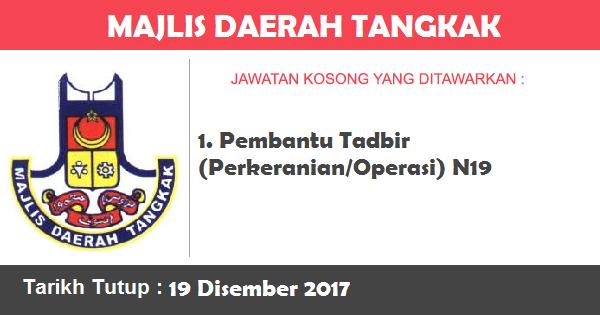 Jawatan Kosong di Majlis Daerah Tangkak