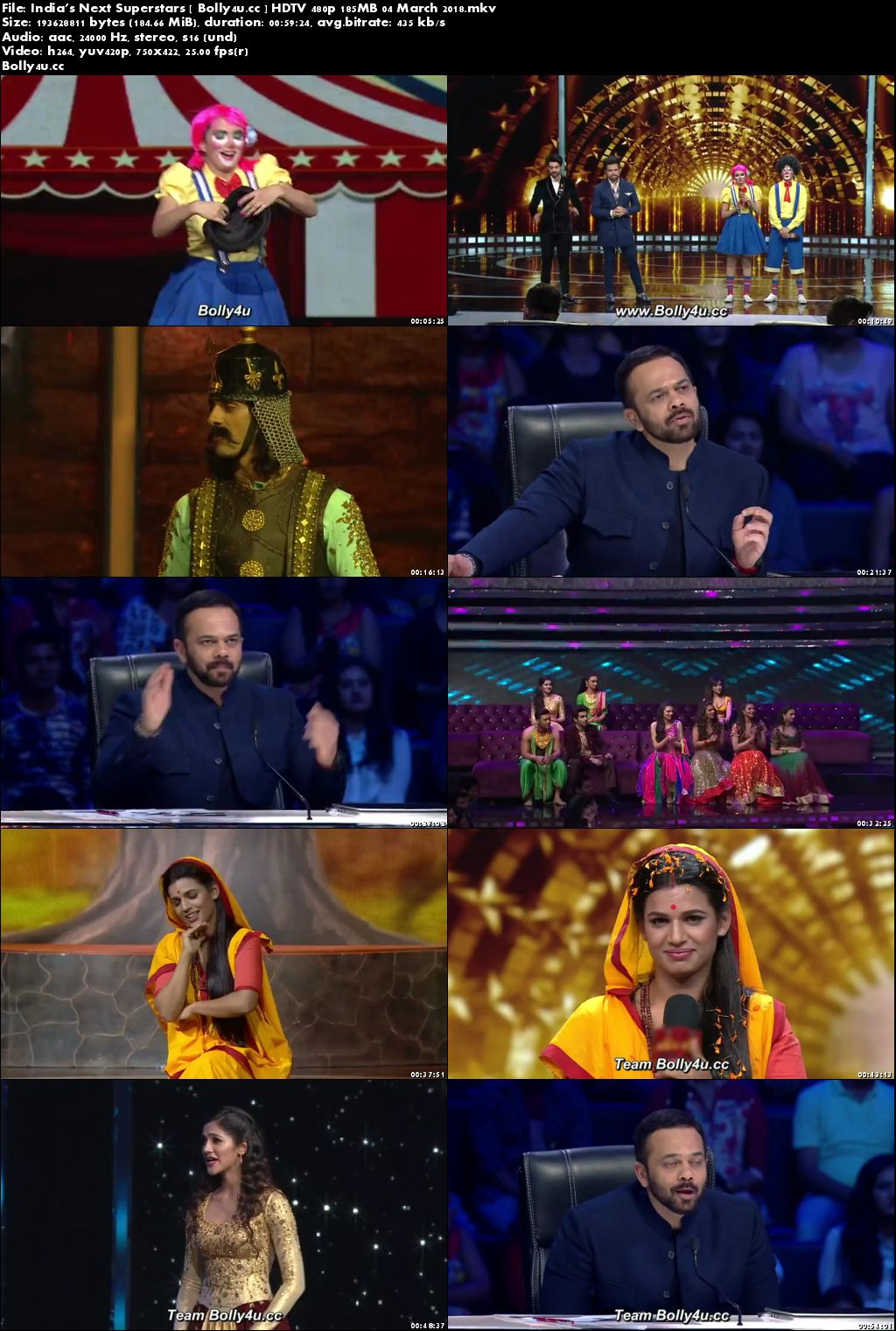 Indias Next Superstars HDTV 480p 180MB 04 March 2018 Download