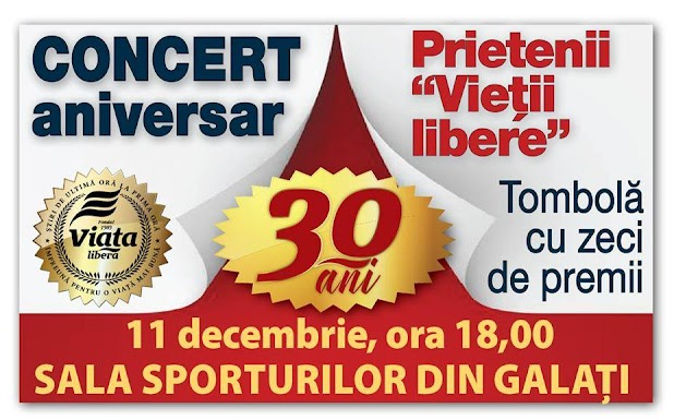 """Prietenii """"Vietii Libere"""" - Concert aniversar, organizat de Viaţa Liberă"""