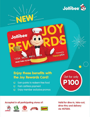 Jollibee Joy Rewards Card