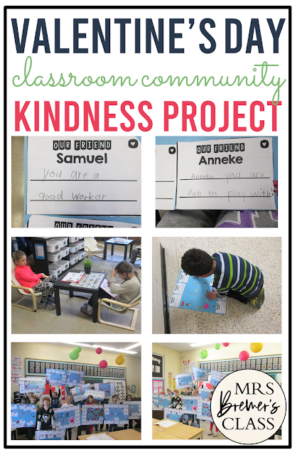 Valentine's Day Kindness Project to build classroom community