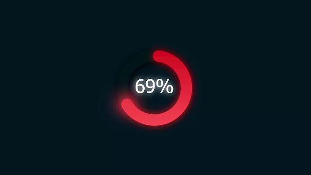 Progress Donut Chart with Glowing Effect