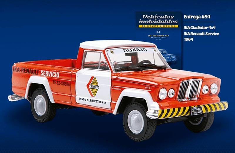 IKA Gladiator 4x4 1964 IKA Renault Service vehículos inolvidables de reparto y servicio
