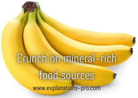 Crunch on mineral-rich food sources