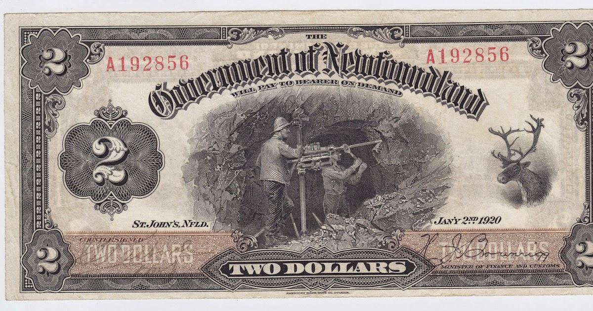 1920 Government of Newfoundland $2 Dollar Bill|World ...  1920 Government...