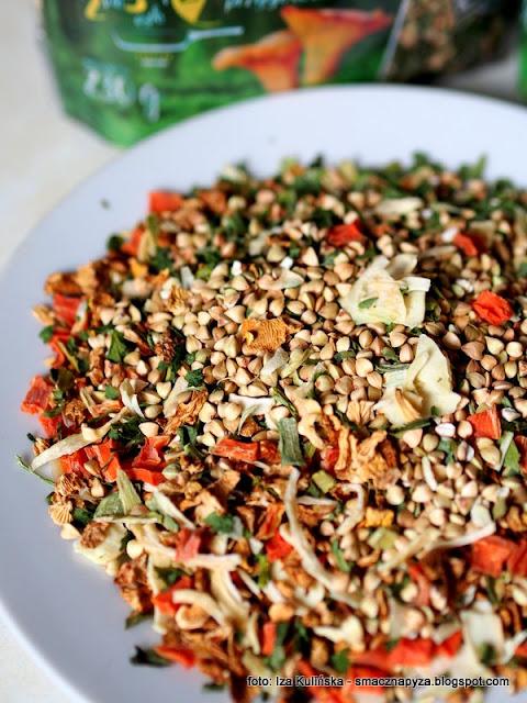 kasza gryczana biala, suszone grzyby, suszone warzywa, ziola, polprodukt,  thegreenwoodpeckertrill, smacznapyza poleca