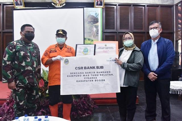 Tinjau Banjir Bandang Gunung Mas Bogor, Wagub Minta Warga Tetap Penerapan Prokes