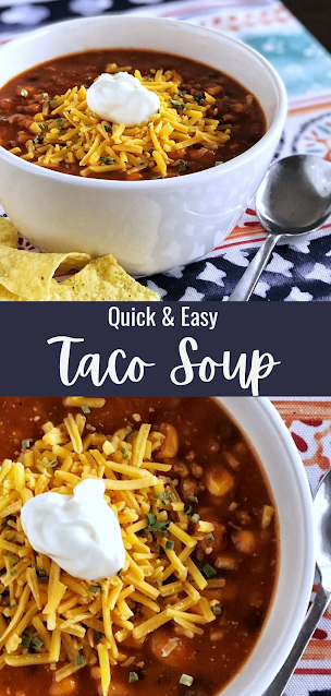 Taco Soup with tortilla chips