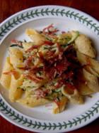 Ricetta Penne rigate con speck e zucchine