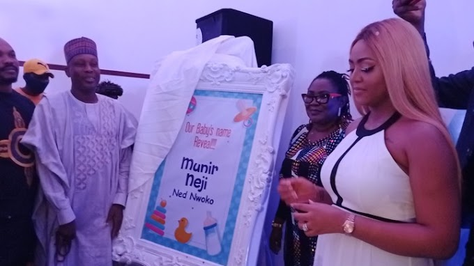 Check Out Regina Daniels' Baby's Name, Video And Photos Of Naming Ceremony
