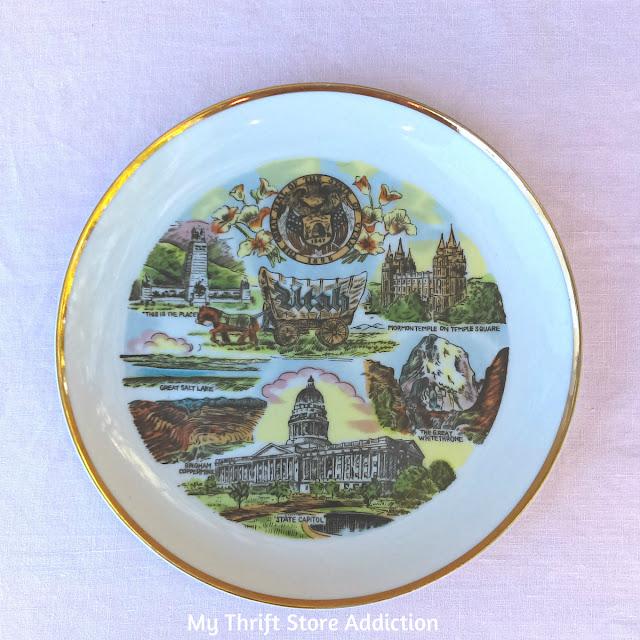 Utah state souvenir plate