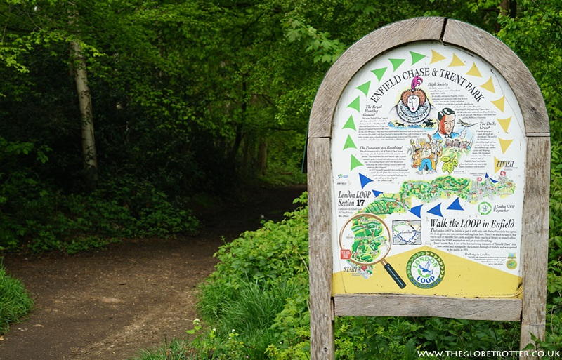London LOOP information board at Trent Country Park