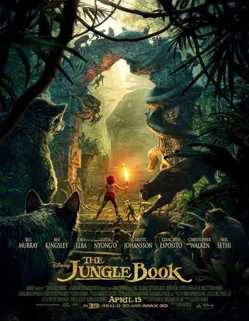 Poster Of The Jungle Book 2016 Dual Audio 720p BRRip [Hindi 5.1 - English 5.1] ESubs Free Download Watch Online Worldfree4u