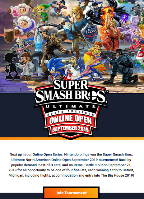 Super Smash Bros. Ultimate North American Online Open September 2019 character mural