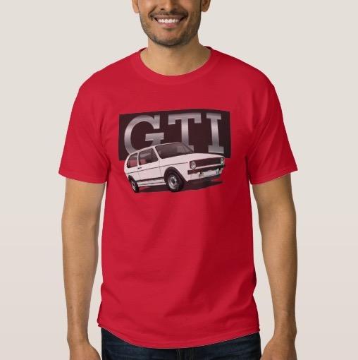 Volkswagen Golf GTI MK1 white t-shirt