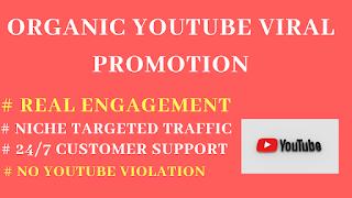 YouTube Viral Organic promotion