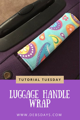 Homemade Fabric Luggage Handle Wrap Sewing Project for Suitcase when Traveling