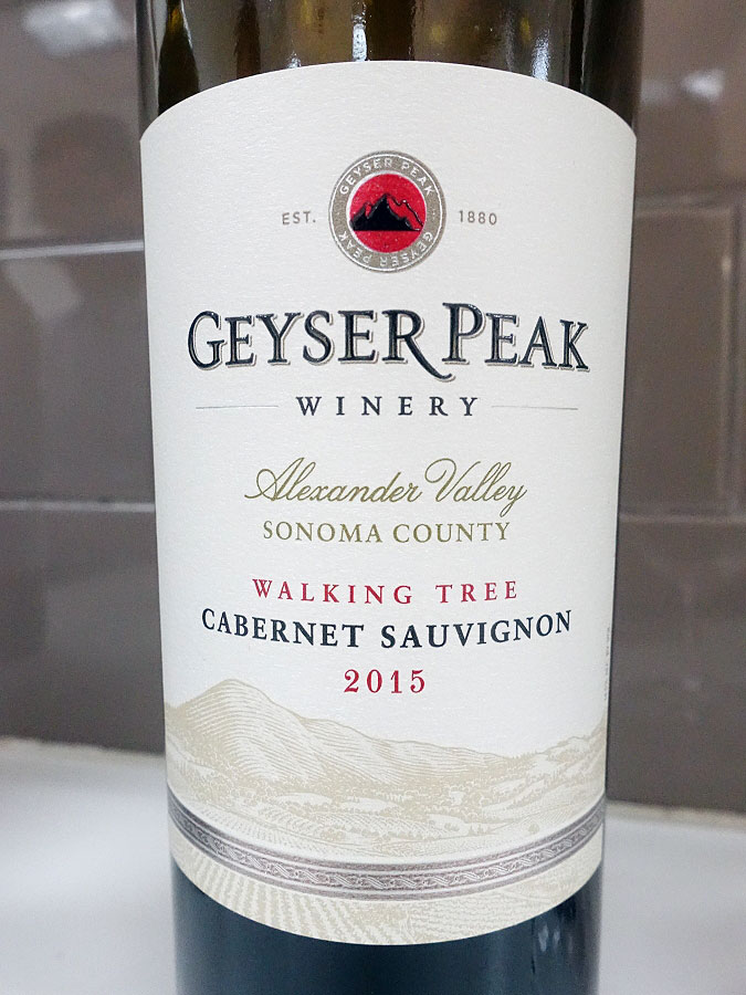 Geyser Peak Winery Walking Tree Cabernet Sauvignon 2015 (90 pts)