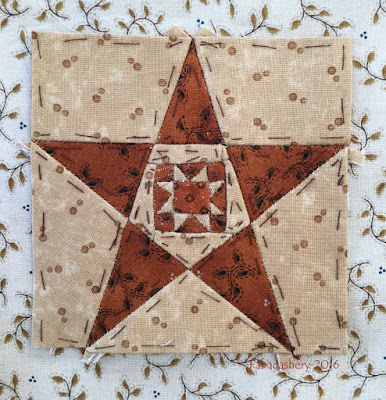 Dear Jane Quilt - Block G6 Papa's Star