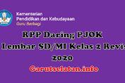 RPP Daring PJOK 1 Lembar SD/MI Kelas 2 Revisi 2020