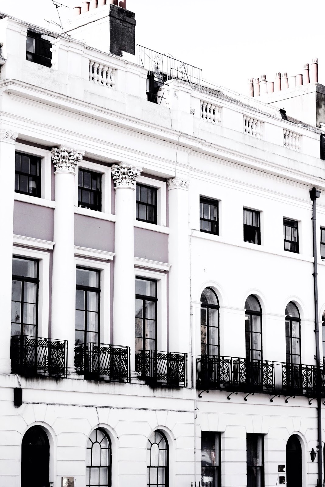 Luxurious White Town Buildings Outside of London
