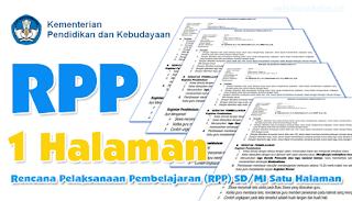 Kumpulan RPP 1 Lembar Kelas 1, 2, 4, 5, & 6 K13 SD/MI