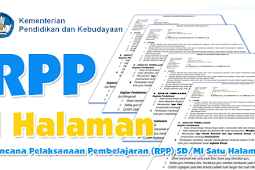 Download RPP K13 1 Lembar Kelas 2 SD/MI Tema 6