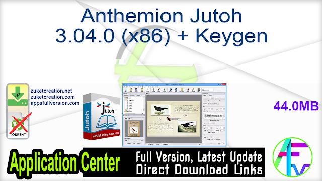 Anthemion Jutoh 3.04.0 (x86) + Keygen