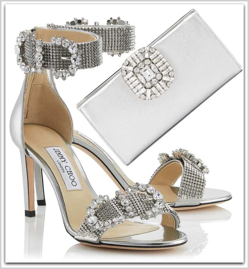 JIMMY CHOO  LAIS 85 SANDALS AND LEONIS BAG