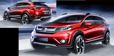 Honda BR-V Sketch officially launched June 2015