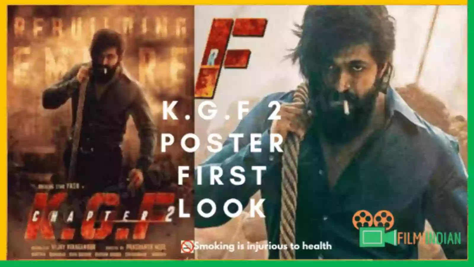 KGF : Chapter 2 Poster First Look : Best and Honest Review