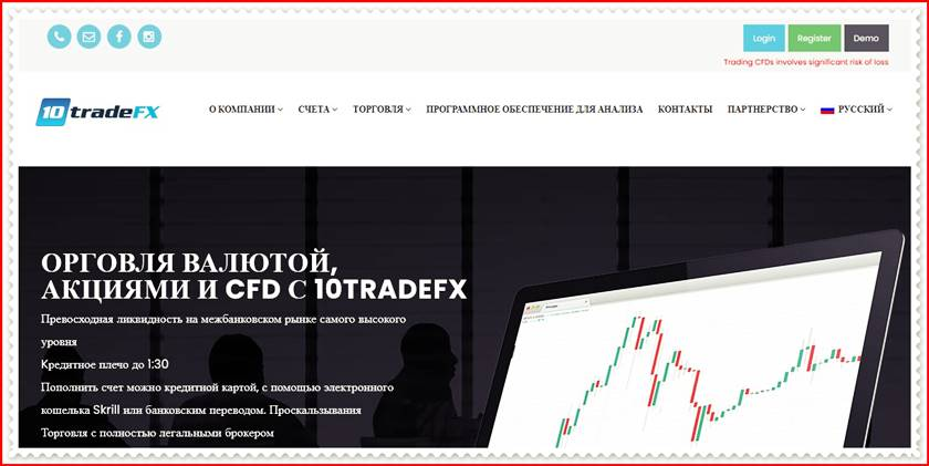 Мошеннический сайт 10tradefx.com – Отзывы? 10TradeFx Мошенники!