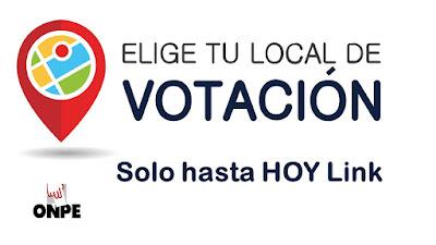 SOLO HASTA HOY elije local de votacion Elecciones 2021 podrias votar lejos de tu casa