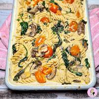 Baked Boursin Pasta Traybake Recipe | Slimming Friendly