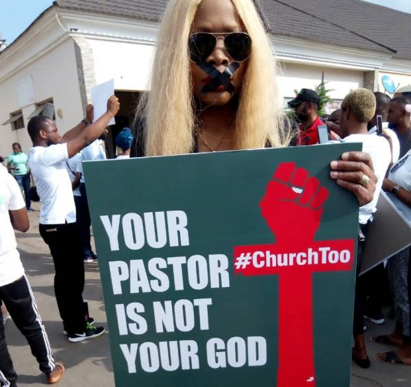 BREAKING: Protest in Abuja over rape allegations against COZA pastor, Fatoyinbo [Photos]
