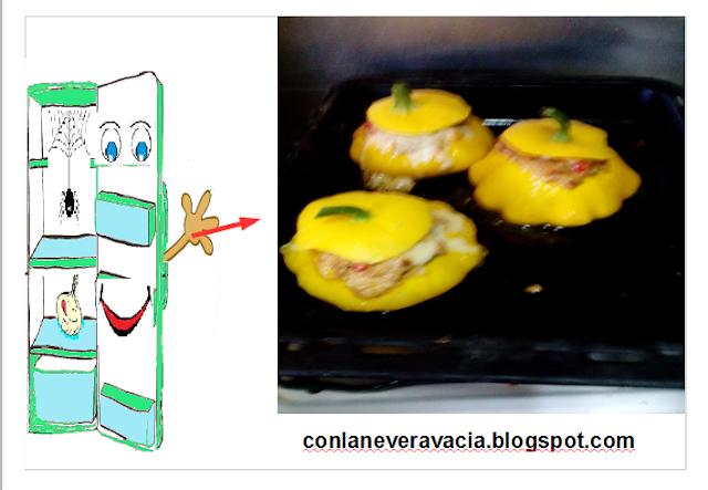 Calabaza De Peter Pan Rellena De Longaniza Y Champiñones