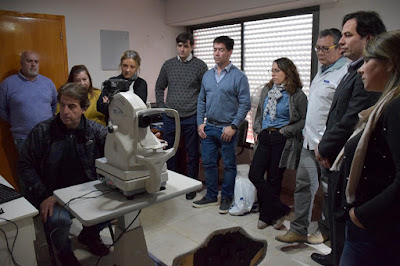 Nuevo retinógrafo hospital municipal San Cayetano