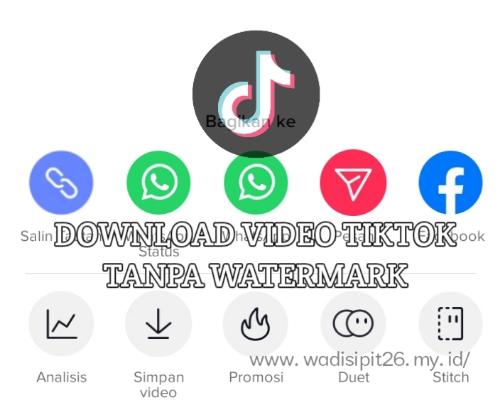 Cara download Video TikTok Tanpa Watermark di Android dan Ios
