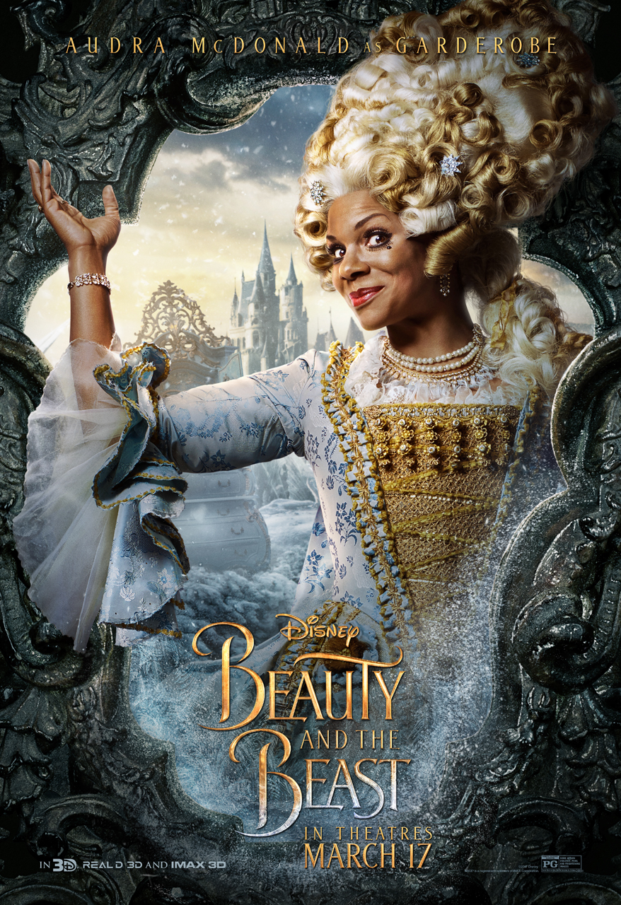 beauty and the beast character posters sasaki time: beauty and the beast character poster - garderobe