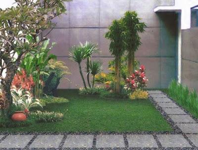 Contoh gambar desain taman belakang rumah | www.sentosagarden.com