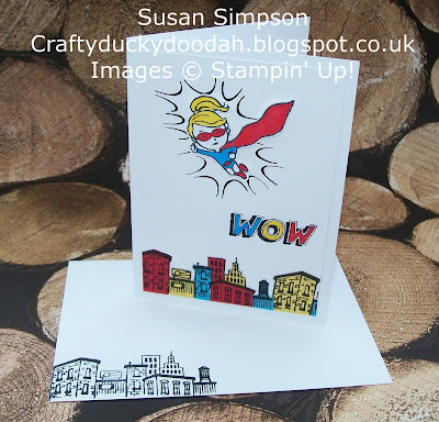 Stampin' Up! UK Independent Demonstrator Susan Simpson, Craftyduckydoodah!, Everyday Hero, Supplies available 24/7, Coffee & Cards Project February 2017,