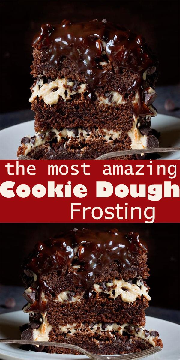 Cookie Dough Frosting #Cookie #Dough #Frosting #dessert #cookies #CookieDoughFrosting